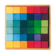 Large Wooden Cube Blocks Set (36 pieces)