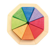 Mini Wooden Octagon Mosaic Puzzle, 8 Triangles