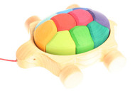 Wooden Rainbow Turtle Pull Toy