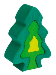Wooden Fir Tree Puzzle