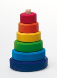 Small Wooden Conical Stacking Tower