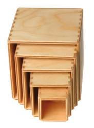 Wooden Nesting Boxes, Natural