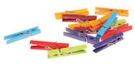 Colorful Wooden Clothes Pins
