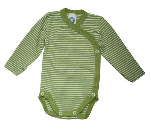 Green/ Natural Stripes