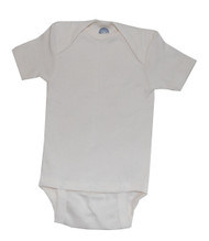 Cosilana Organic Wool/ Silk Short Sleeved Bodysuit with 3 Snaps