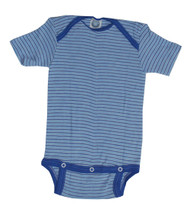 Cosilana Organic Wool Short Sleeved Bodysuit with 3 Snaps