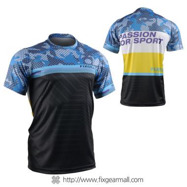 FIXGEAR RM-S01 Men's Casual short sleeve Crew-Neck T-shirt