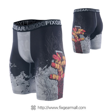 FIXGEAR FP5-S13 Compression Base Layer Shorts with Wide Waistband