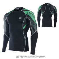 FIXGEAR C2L-B68G Compression Base Layer Long Sleeve Shirts