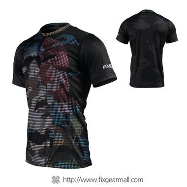 FIXGEAR RM-M6 Men's Casual short sleeve Crew-Neck T-shirt