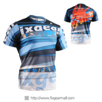 FIXGEAR RM-5202 Men's Casual short sleeve Crew-Neck T-shirt