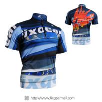 FIXGEAR BM-5202 Casual Mens short sleeve jersey 1/4 zip-up T-shirt