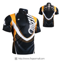 FIXGEAR BM-5802 Casual Mens short sleeve jersey 1/4 zip-up T-shirt