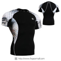 FIXGEAR C2S-B38 Compression Shirts Base Layer Short Sleeve