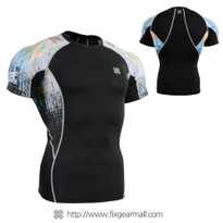 FIXGEAR C2S-B42 Compression Shirts Base Layer Short Sleeve