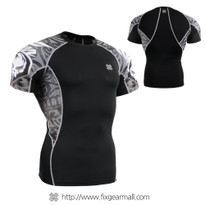 FIXGEAR C2S-B43 Compression Shirts Base Layer Short Sleeve