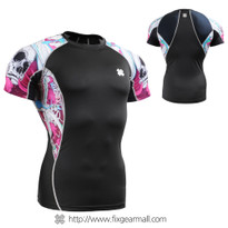 FIXGEAR C2S-B19P Compression Shirts Base Layer Short Sleeve