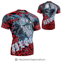 FIXGEAR RM-7302 Men's Casual short sleeve Crew-Neck T-shirt