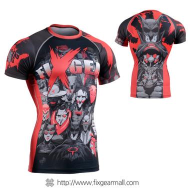 FIXGEAR CFS-H4 Compression Base Layer Short Sleeve Shirts
