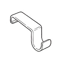 Trendway Choices Panel Hung Coat Hooks 12 Pack