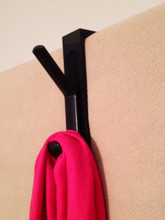 Coat hooks for extra thick cubicle panels