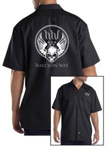 Halcyon Way - Dickies Workshirt - Militant Skull