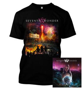 Seventh Wonder - Tiara Save Us  - T-Shirt & CD Bundle