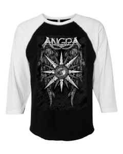 Angra - 3/4 Sleeve B&W Wings Shirt