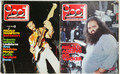 2 Ciao 2001 magazines (Italian Circus magazine) Nov. 1972 & Nov. 1973 with Banco, Garybaldi, Jack Bruce, Jackson Heights, Area, Rod Stewart, Lindisfarne,  Bob Dylan, Joplin poster and more