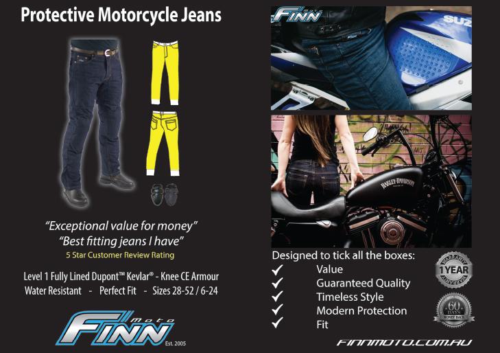 Finn Moto Kevlar Jeans Information