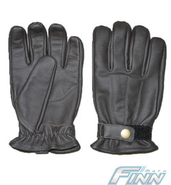 Brown cafe leather gloves