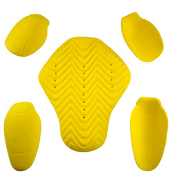 New CE Level 2 Approved 5pc armour set included. Armours can be removed. Soft memory foam, hardens on impact.