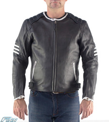 Mens Cafe Racer Retro Jacket
