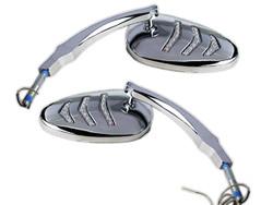 Chrome LED Indicator Motorcycle Mirrors - Dual Kit - 2 pc