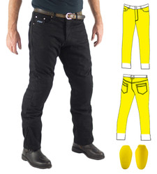 Black Kevlar® Lined Jeans Includes Knee Armour. Optional extra: Hip Armour