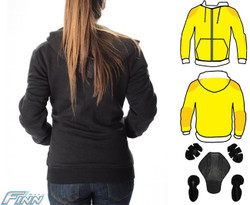 Ladies Kevlar Hoodie Long back for good coverage