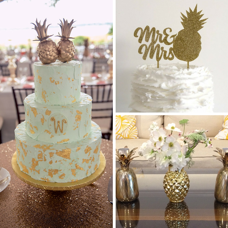pineapple wedding cake weddings bananas watermelons and pineapples 18525