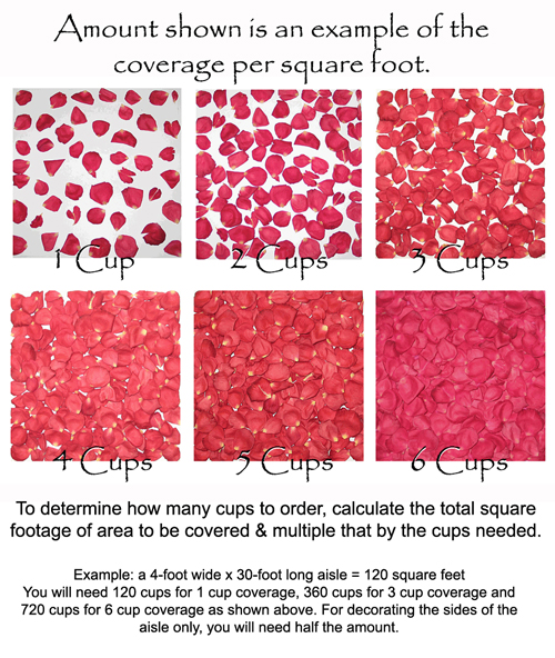 Rose Petal Aisle Styles And How To Calculate Petals Needed Flyboy