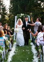 Jillian & Blake Wedding Aisle and Toss