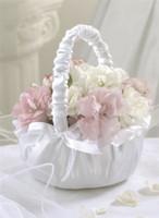 NEW! Lillian Rose Ruffled Flower Girl Basket White