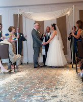 Shari & Jeremy Exchange Vows. Their weedding aisle with Flyboy Naturals Rose Petals