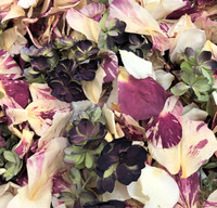 Real Rose Petals, Double Hydrangea Petals, eco-friendly and biodegradable.