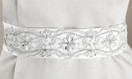 Elegant Pearl and Rhinestone Wedding Belt - White