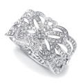 Crystal Scroll Cuff Bracelet