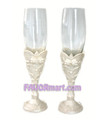 Precious Bow Toasting Flutes - Set of 2