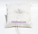 Ivory Love In Bloom Ring Pillow