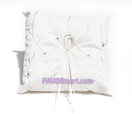 Ivory Flower Love Ring Pillow