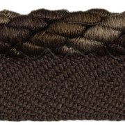 "CABLE CORD.COFFEE T30560 by Threads Trim - Cotton 58%, Silk 28%, Polyester 14% China - H"" -, V: - .25 inches  - Fabric Carolina -  Threads"