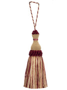 0624L Key Tassel S0121 6013601 by Stroheim Trim Provence Decorative Trimmings 58% Viscose 38% Polyester 4% Cotton China Double Rubs: - Dry Clean Only H: 0, V: 0 - - Fabric Carolina - Stroheim