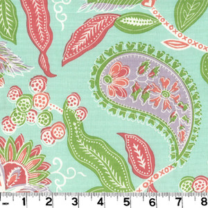 "Addison Surf PRI045 by Roth and Tompkins Fabric Roth 100% Cotton India - H: 27"", V: 17"" 54"" - Fabric Carolina - Roth and Tompkins"